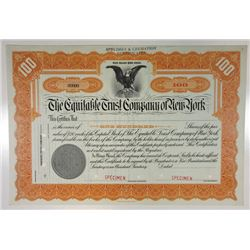 Equitable Trust Co. of New York, ca.1920-1930 Specimen Stock Certificate