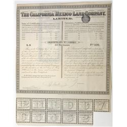 California  Mexico Land Co., 1888 Issued Land Agreement