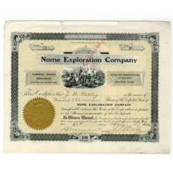 Nome Exploration Co., 1902 I/C Stock Certificate.