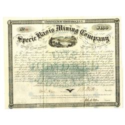 Specie Basis Mining Co., 1866 Issued Bond