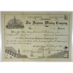 Neptune Mining Co., 1880 Issued Stock Certificate