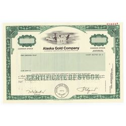 Alaska Gold Co., 1989 Specimen Stock Certificate