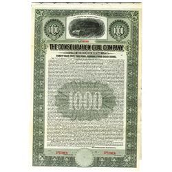 Consolidated Coal Co., 1910 Specimen Bond