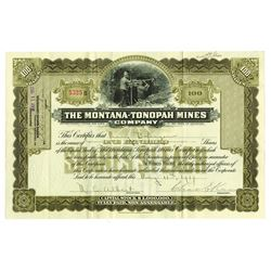 Montana-Tonopah Mines, 1917 Issued Stock Certificate