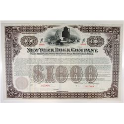 New York Dock Co., 1901 Specimen Bond