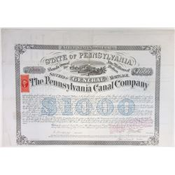 Pennsylvania Canal Co., 1870 Issued Bond
