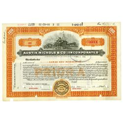 Austin, Nichols & Co., Inc., 1935 Specimen Stock Certificate