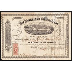 Kingsland Oil Co. 1864 Issued Stock.