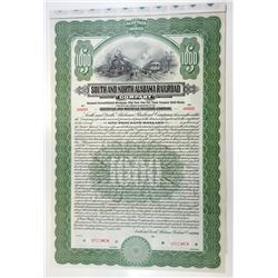 South & North Alabama Railroad Co., 1913 Specimen Bond