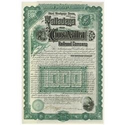 Talladega Coosa Valley, 1889 Issued Gold Bond.