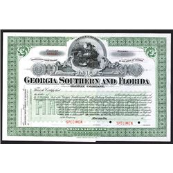 Georgia Southern and Florida Railway Co. 1900-1910 Specimen Stock Certificate.