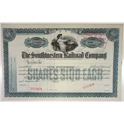 Southwestern Railroad Co., ca.1930-1940 Specimen Stock Certificate