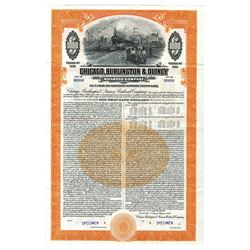 Chicago, Burlington and Quincy Railroad Co., 1945 Specimen Bond