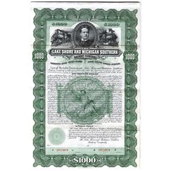 Lake Shore and Michigan Southern Railway Co., 1897 Specimen Bond