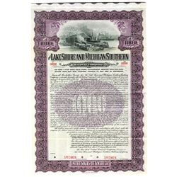 Lake Shore and Michigan Southern Railway Co., 1906 Specimen Bond