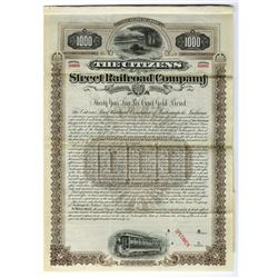 Citizens Street Railroad Co., 1896 Specimen Bond