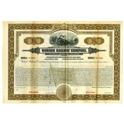 Wabash Railway Co., 1925 Specimen Bond