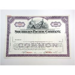 Southern Pacific Co, 1950s Specimen Certificate.