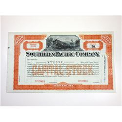 Southern Pacific Rail Co. 1890-1900 SPECIMEN Stock Certificate.