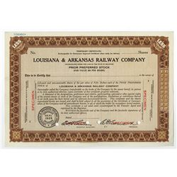 Louisiana & Arkansas Railway Co., ca.1940 Specimen Stock Certificate
