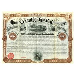 Maine Central Rail Road Co., 1872 Specimen Bond
