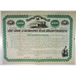 Troy & Boston Rail Road Co., 1974 Specimen Bond