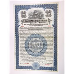 MO. Missouri-Kansas-Texas Railroad Co., 1928 $1,000 Specimen Bond - Dark Blue