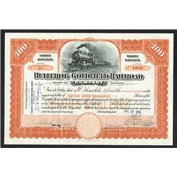 Bullfrog Goldfield Railroad Co., 1914 Stock Certificate.