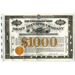 Chesapeake and Ohio Grain Elevator Co., 1882 Issued Bond Signed by C. P. Huntington.