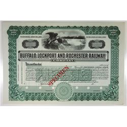 Buffalo, Lockport & Rochester Railway Co., 1930s Specimen Stock Certificate