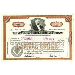 New York Central Railroad Co., ca.1940-1950 Specimen Stock Certificate