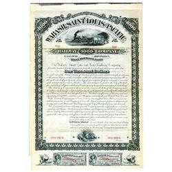 Wabash, Saint Louis and Pacific Railway Co., 1881 Specimen Bond