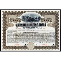 Cincinnati, Hamilton and Dayton Railway Co., Specimen Bond.