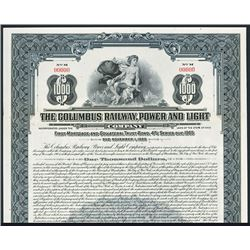 Columbus Railway, Power and Light Co. Specimen Bond.