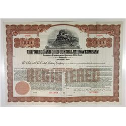 Toledo & Central Railway Co., ca.1910-1920 Specimen Bond