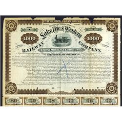 Lake Erie & Western Railway Co., 1880 Specimen Bond.