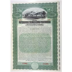 Pittsburgh, Youngstown & Ashtabula Railway Co., 1908 Specimen Bond