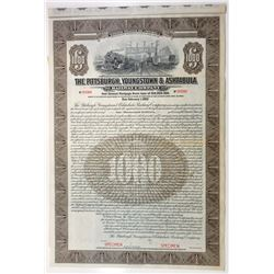 Pittsburgh, Youngstown & Ashtabula Railway Co., 1922 Specimen Bond