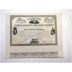 South Carolina Rail Road Co., 1866 Cancelled Bond