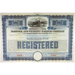 Norfolk & Western Railway Co., 1919 Specimen Bond