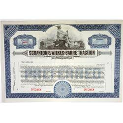 Scranton & Wilkes-Barre Traction Corp., ca.1930-1940 Specimen Stock Certificate
