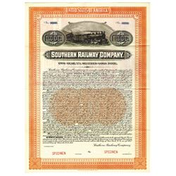 Southern Railway Co., 1917 Specimen Bond
