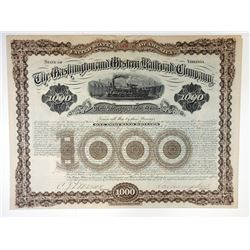 Washington Western Railroad Co., 1882 issued Bond
