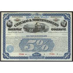 Chicago & Northwestern Railway Co. ca.1900 Specimen Bond.