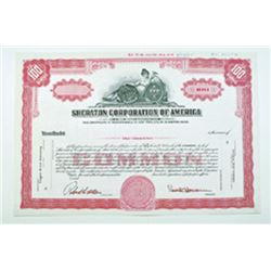 Sheraton Corp. of America, 1955 Specimen Stock Certificate