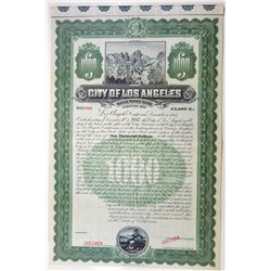 City of Los Angeles, 1907 Specimen Bond