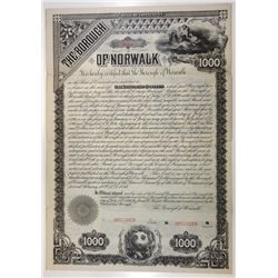 Borough of Norwalk, 1886 Specimen Bond