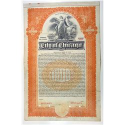 City of Chicago, 1933 Specimen Bond