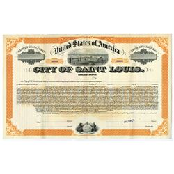 City of Saint Louis, ca.1910-1920 Specimen Bond