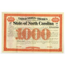 State of North Carolina, ca.1890-1900 Specimen Bond